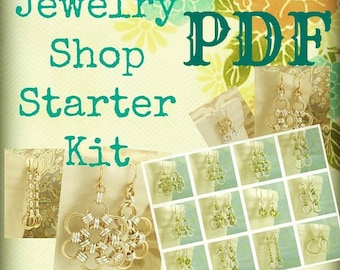 PDF Chainmail Tutorial - Jewelry Shop Starter - Beginners and Intermediate - Deluxe Instructions Plus