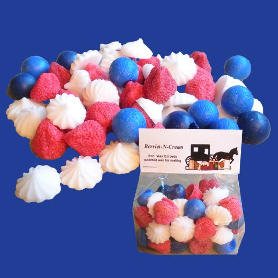 BERRIES-N-CREAM Wax Melts, Wax Tarts, Scented Embeds