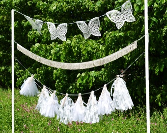laser cut butterfly bunting