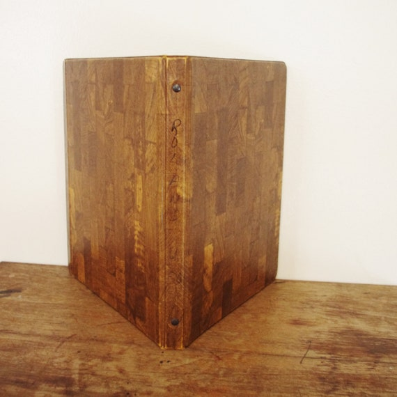 Vintage Wood Grain 3 Ring Binder With Fold-over Cover