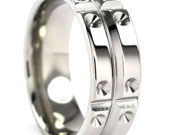 New 8mm MATRIX Titanium Ring with Free Sizing 4-17: 8F-MATRIX-T8
