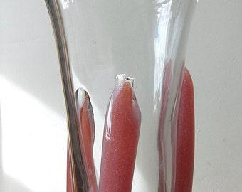 SALE ARCHIMEDE SEGUSO coral pulegoso vase Murano mid century modern