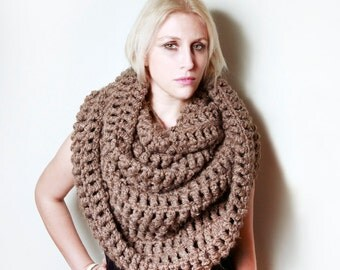 The Tallulah Wrap Scarf in Barley/Taupe/Brown