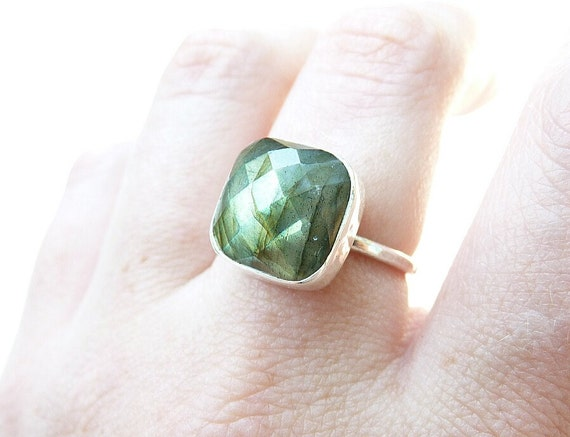 labradorite ring - sterling silver ring - made to order - handmade gemstone jewelry - stone rings