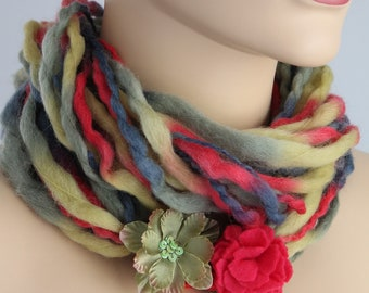 Wool  Infinity Scarf / Loop Scarf / Scarf Necklace