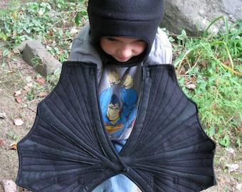 Black on Black Bat Wings Swooping in for Some Spooky Fun - Children, toddler, preschooler