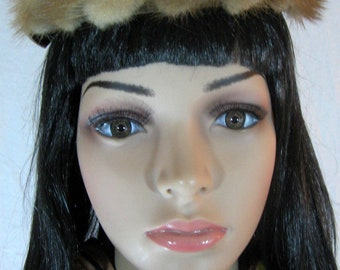 1940's MINK HAT Satin Velvet Fascinator