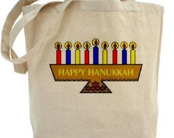 Hanukkah Tote Bag - Canvas Tote - Holiday Tote Bags - Gift Bags