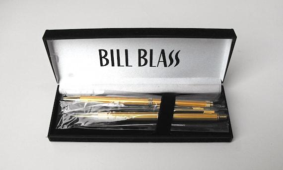 1960s bill blass pen set mid century gold pen amp pencil