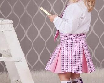Girls Cheer Skirt TUTORIAL, Pleated Skirt Costume, PDF Instructions