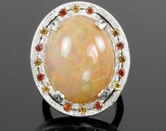 Ethiopian Opal Ring of Fire