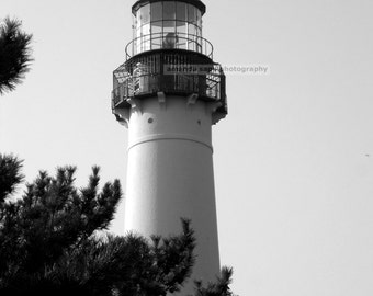 lighthouse Cape May NJ black and white photograph