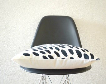 Throw Pillow Cover - Black Spots on White