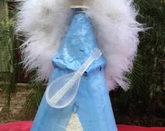 Paper Mache Angel Tree Topper