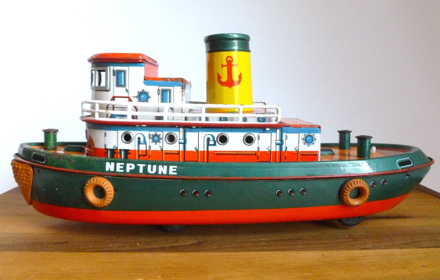 Mid century 1950 39 s modern toys tin neptune battery for Mid century modern toy box