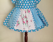 Dolly Dress Small Blue Flowers