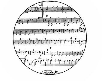 Sheet Music pinback button