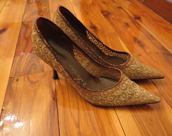Vintage 1950s Lovely Lace Stilettos Bellamoda by Williams and Hill