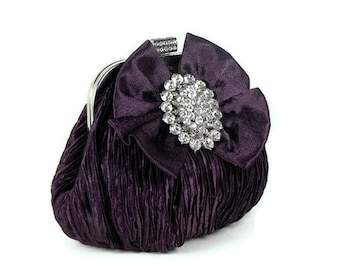 Purple Clutch, Evening Bag, Vintage Inspired Cluth, Purse, Bridal Clutch, Wedding Clutch