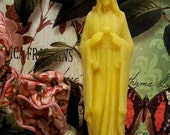 Beeswax Sacred Heart Of Jesus Candle (Set of 2)