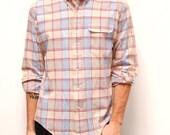 PLAID OXFORD long sleeve SHEER shirt