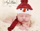 Snowman prop Christmas Frosty newborn prop