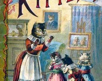 3 Little Kittens Digital Art Downloadable, Printable Image