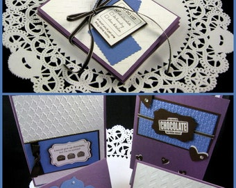 Greeting Card Set of 4 Handmade All About Chocolate for Friend