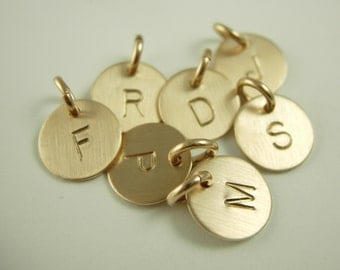 Mini Initial Charms - Name Charms - Initial Charms