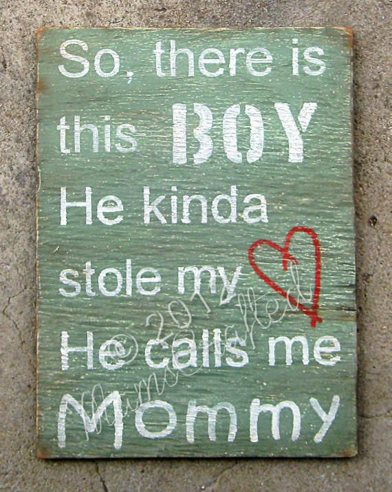 "There's This Boy (Large 10""x14""), Weathered Wood Wall Art"