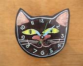 Black Cat Head Clock