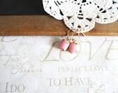 pretty in PINK petal pink opaque vintage rhinestone earrings B22 | petal pink | rose | flower girl | dainty | girly