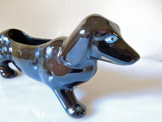 Vintage Dachshund Dog Planter