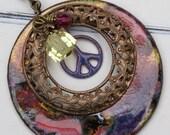 Antique Brass Boho Chic Necklace - Jewel of Tanzania