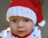Santa Stocking Cap for Baby:  Newborn or 3 - 6 Months