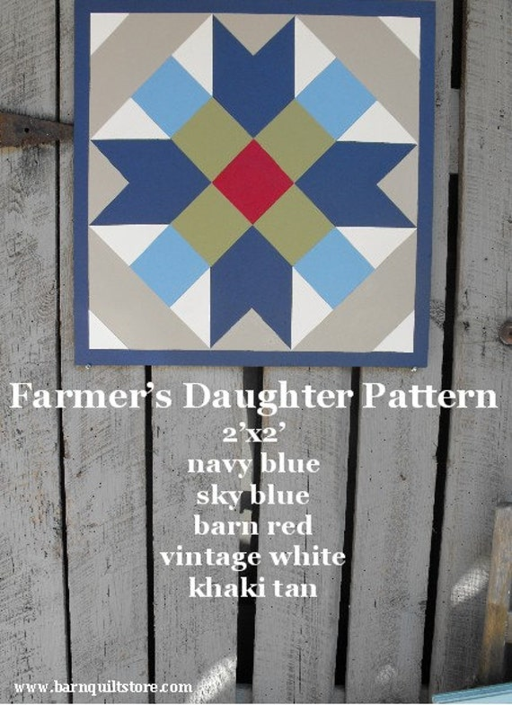 Painted Wood Barn Quilt Farmer S Daughter Patterm