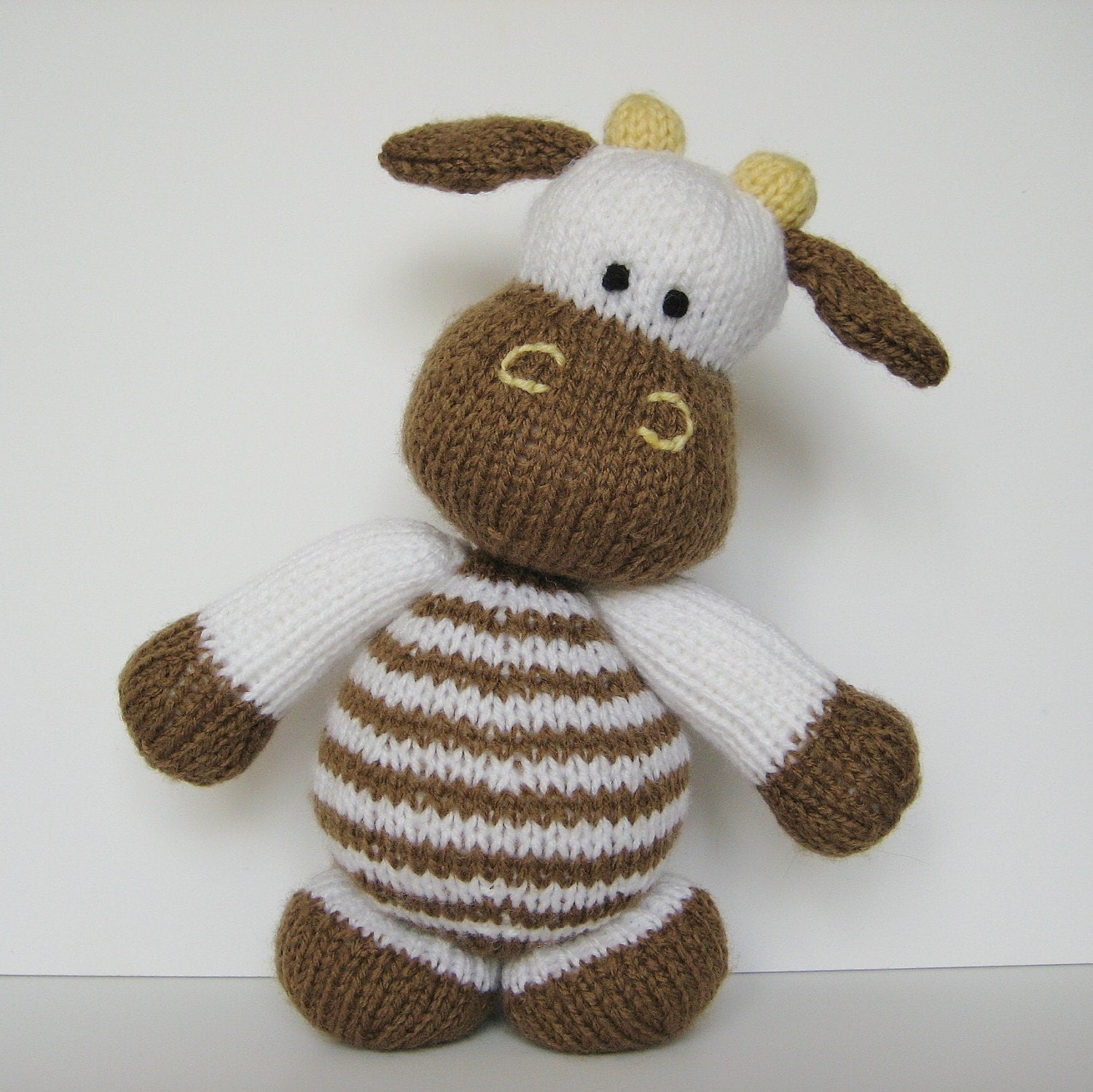 Free Animal Knitting Patterns : Milkshake the Cow toy knitting pattern by fluffandfuzz on Etsy