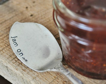 JAM ON - Hand Stamped Vintage Jelly Spreader- Perfect for Breakfast in Bed with your Sweetie