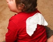 Boys Valentine's Day Shirt - Cupid's Wings - Red Long Sleeve Short Sleeve T shirt