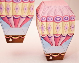 Hot Air BALLOON Favor Box - DIY Printable PDF