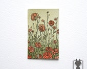 Roses bush illustration - original aceo - The Hair and Roses collection