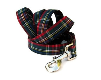 Plaid Dog Leash - Kensington Plaid