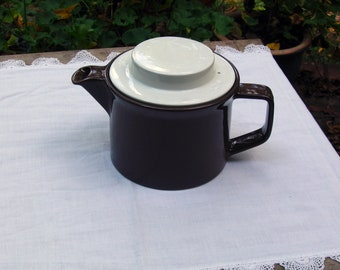 Vintage Chocolate Brown Tea Pot by Johnson Brothers of England, Real Simple Magazine Idea