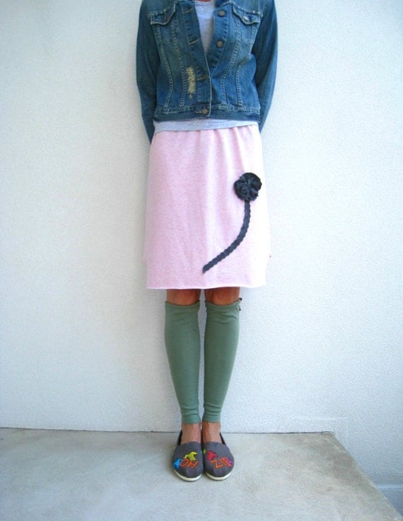 Sage Green T Shirt Leg Warmers / Upcycled / Recycled / Girls / Winter / Spring / Cotton / Stretch / Soft / Fashion / Fun / tagt / ohzie
