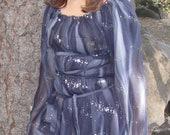 Black Sparkle Fairy Pirate Gothic Peasant Blouse Tunic Dress