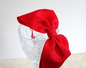 Large Red Bow Headband. Girls Hair Accessories. Teen. Adult. Girls. Hard Headband. Red Bow Headband. Large Hair Bow. Women Hair Accessories