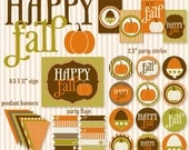 Fall PRINTABLE Party Collection (INSTANT DOWNLOAD) by Love The Day