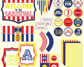 Circus PRINTABLE Party from Love The day