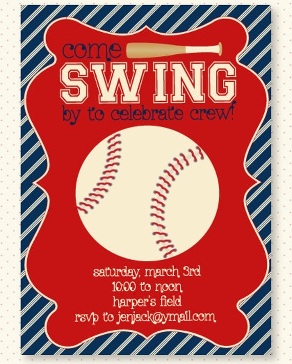 Sports Invitation Templates with nice invitation layout
