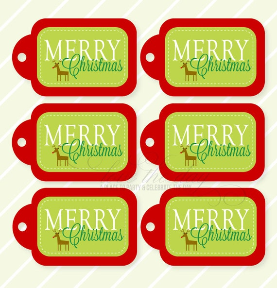Items similar to Merry Christmas PRINTABLE Gift Tags by Love The Day ...